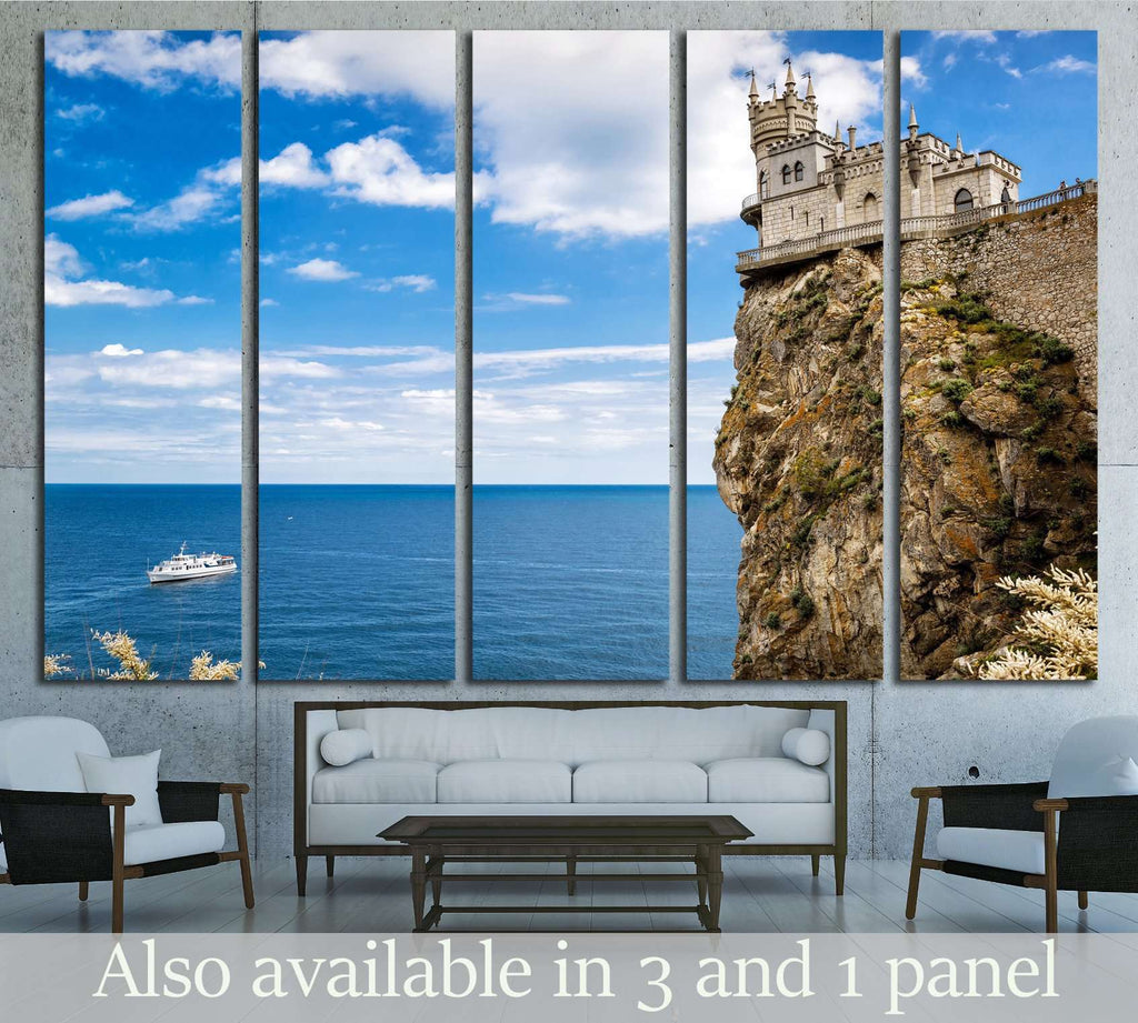 Swallow's Nest castle, Black Sea in Crimea, Ukraine №1812 Ready to Hang Canvas Print