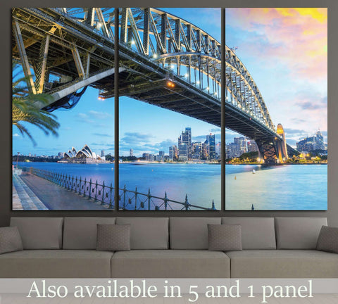 Sydney, Australia. Amazing skyline at dusk №1148 Ready to Hang Canvas Print