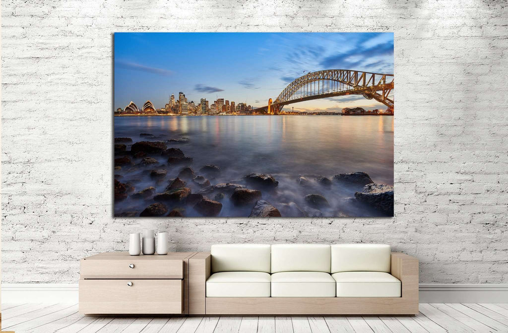 Sydney city №1150 Ready to Hang Canvas Print