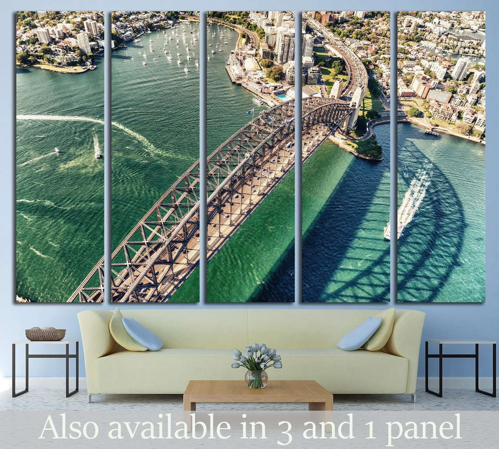 Sydney Harbour Bridge. Aerial view №1151 Ready to Hang Canvas Print