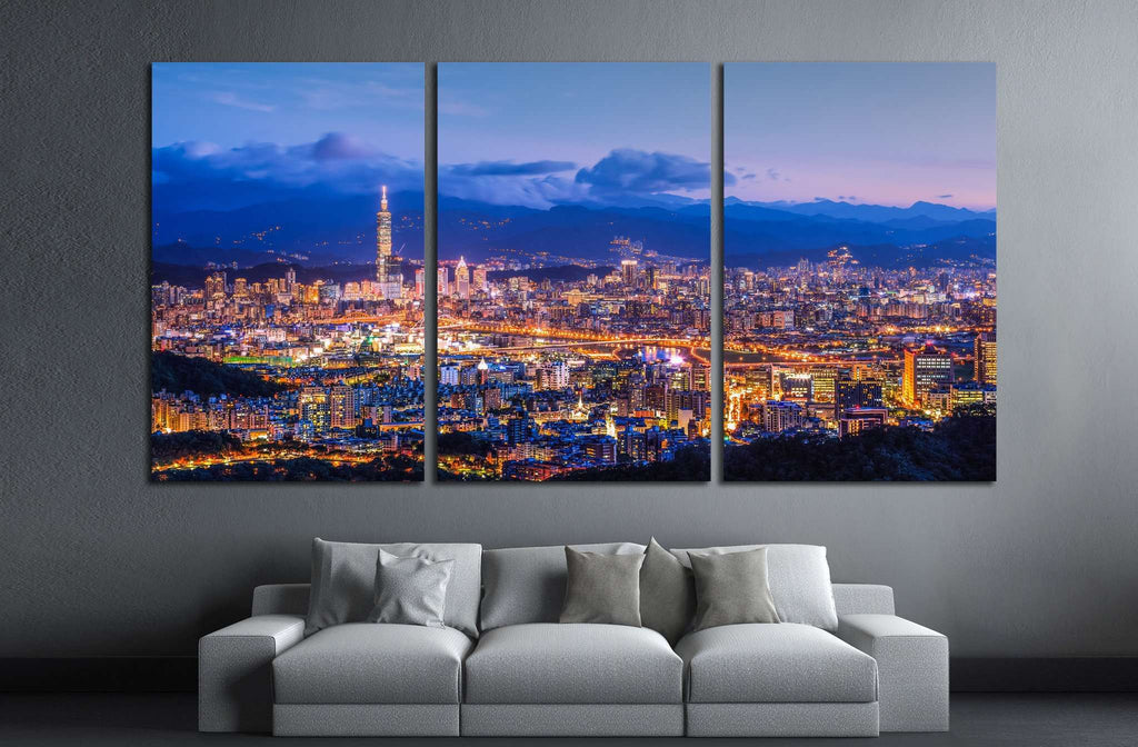 Taipei City №566 Ready to Hang Canvas Print