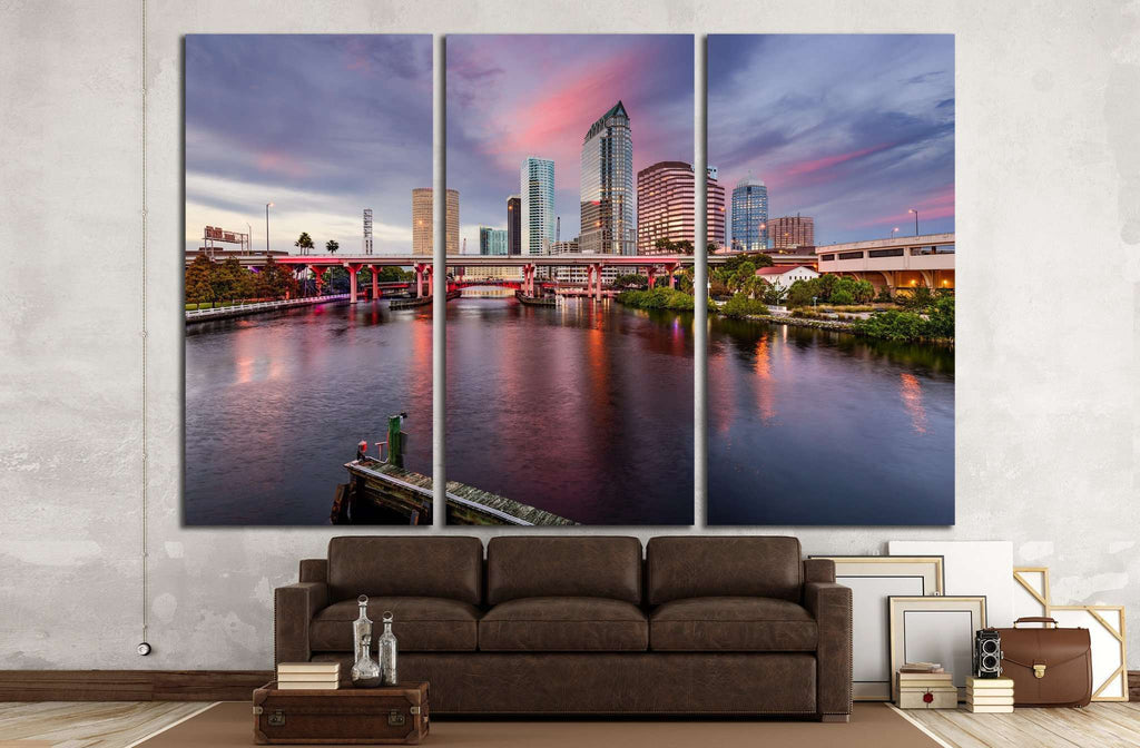 Tampa, Florida, USA, Hillsborough River №1216 Ready to Hang Canvas Print