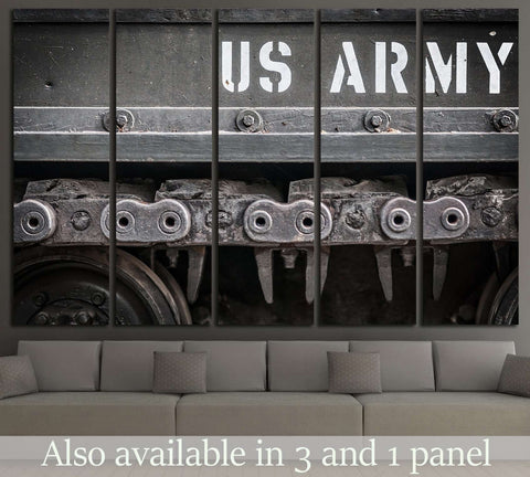 Tank Tracks US ARMY №523 Ready to Hang Canvas Print