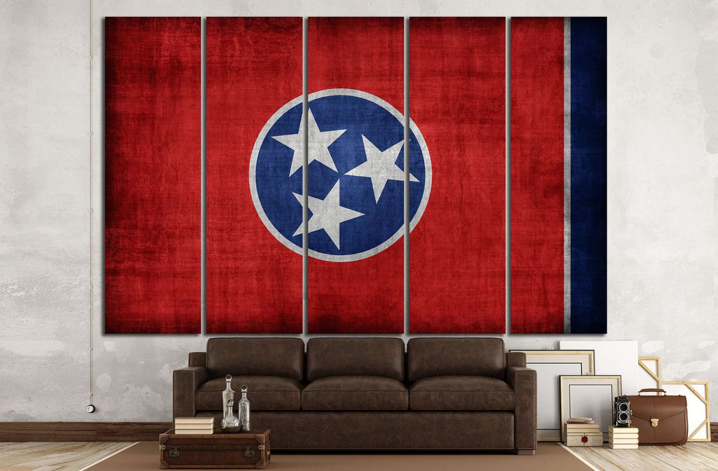 Tennessee flag №692 Ready to Hang Canvas Print