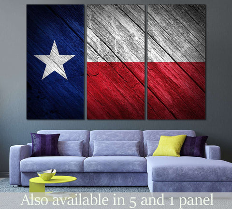 Texas flag №826 Ready to Hang Canvas Print