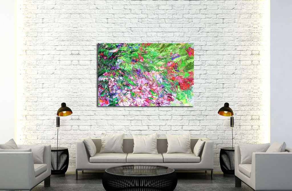 texture of oil painting, Art Painted Image color, paint, artist's canvas,impressionism №2875 Ready to Hang Canvas Print