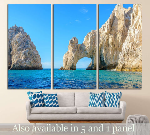 The arch point (El Arco) at Cabo San Lucas, Mexico №3076 Ready to Hang Canvas Print