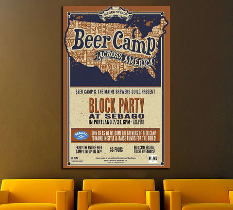 The Beer Camp №3481 Ready to Hang Canvas Print
