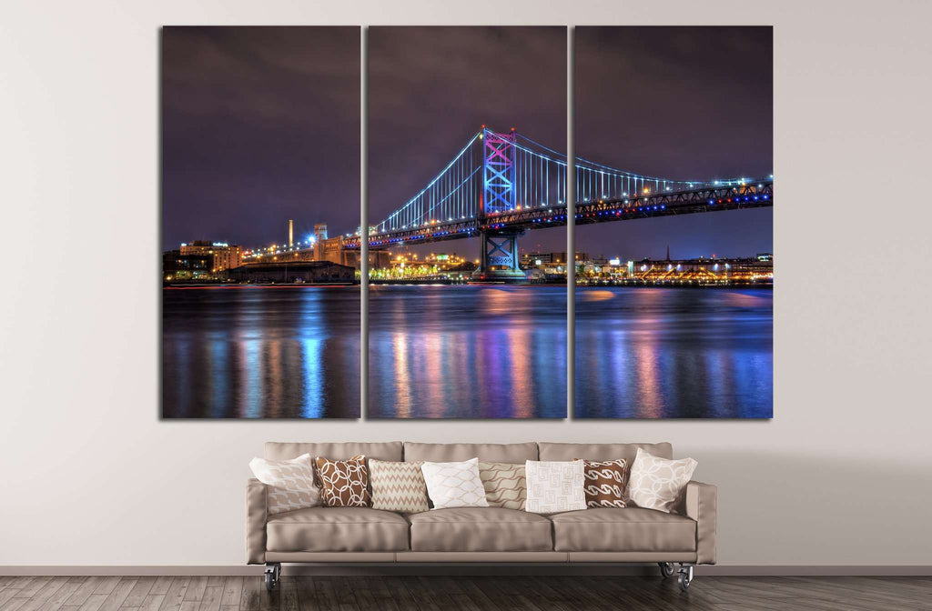 The Benjamin Franklin Bridge №881 Ready to Hang Canvas Print