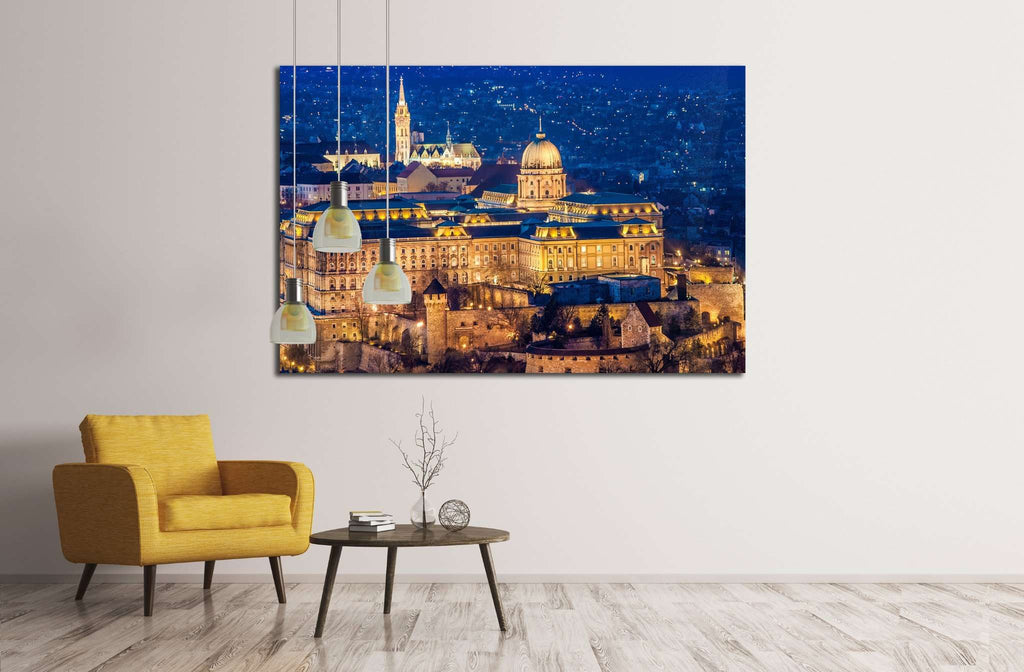 The Buda Castle, Budapest №1770 Ready to Hang Canvas Print