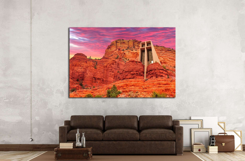 The Chapel of the Holy Cross in Sedona, Arizona, U.S.A. №1983 Ready to Hang Canvas Print