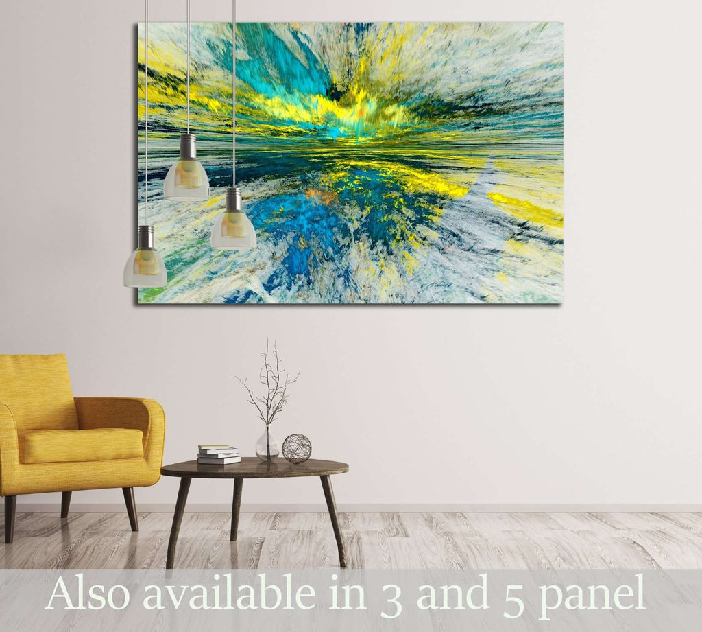 The colors in the series, Fancy paint. Background consists of fractal color texture №2884 Ready to Hang Canvas Print