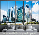 The complex of buildings Moscow City №1556 Ready to Hang Canvas Print