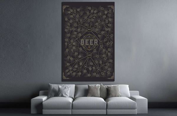 The Diagram of Beer №3453 Ready to Hang Canvas Print