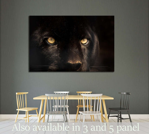 The eyes of a black panther №2332 Ready to Hang Canvas Print