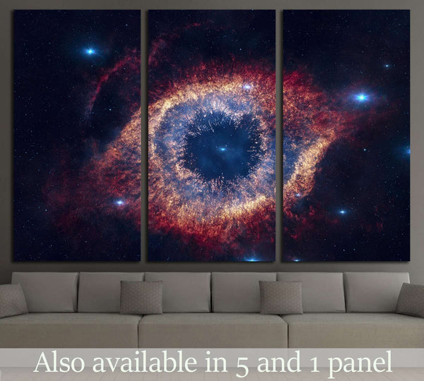 The Helix Nebula is a large planetary nebula located in the constellation Aquarius №2442 Ready to Hang Canvas Print