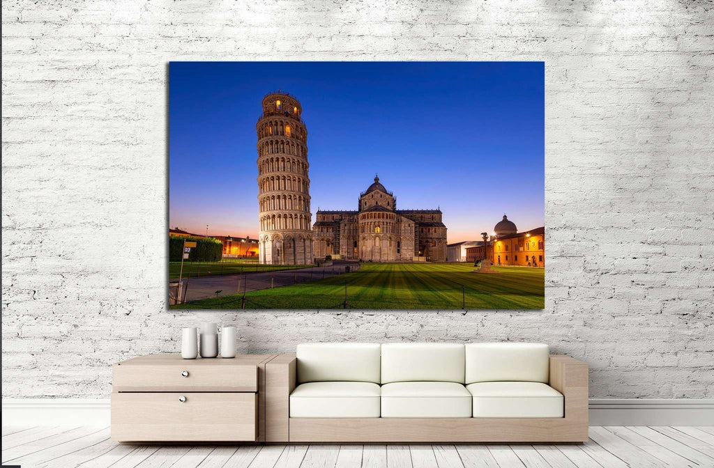 The Leaning Tower of Pisa, Italy №1257 Ready to Hang Canvas Print