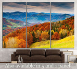the mountain autumn landscape №750 Ready to Hang Canvas Print