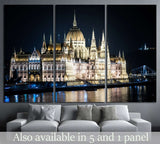 The Parliament of Budapest at night №1282 Ready to Hang Canvas Print