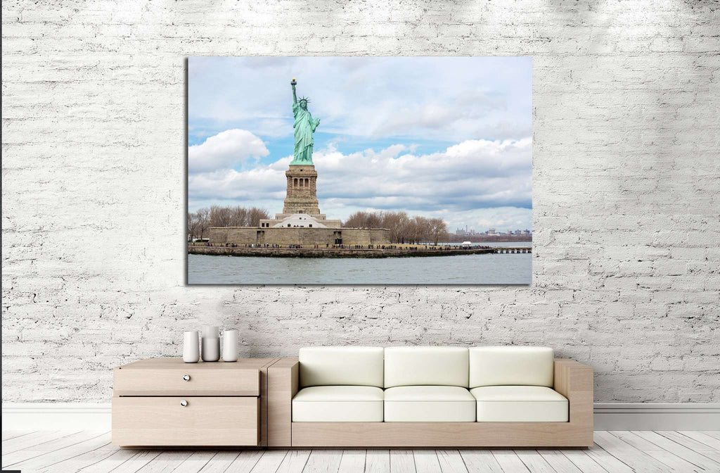 The Statue of Liberty in New York City №1210 Ready to Hang Canvas Print