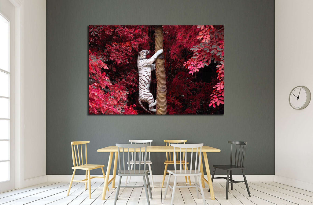 The white Tiger №2353 Ready to Hang Canvas Print