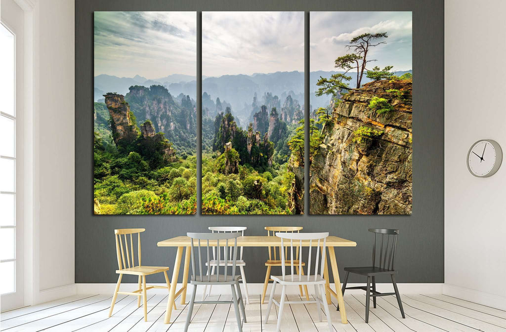 Tianzi Mountains (Avatar Mountains), Zhangjiajie National Forest Park, China №1988 Ready to Hang Canvas Print
