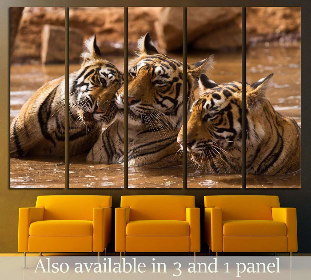 Tiger Family №2342 Ready to Hang Canvas Print