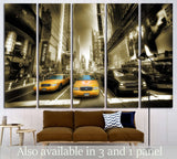 Times Square - Manhattan №1503 Ready to Hang Canvas Print