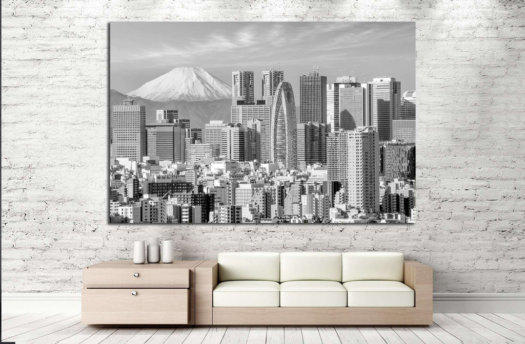 Tokyo skyline and Mountain fuji in Japan №1280 Ready to Hang Canvas Print