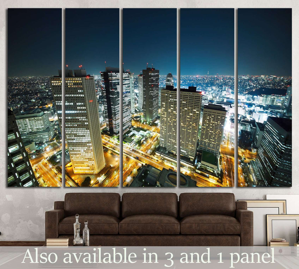 Tokyo Skyline №1154 Ready to Hang Canvas Print