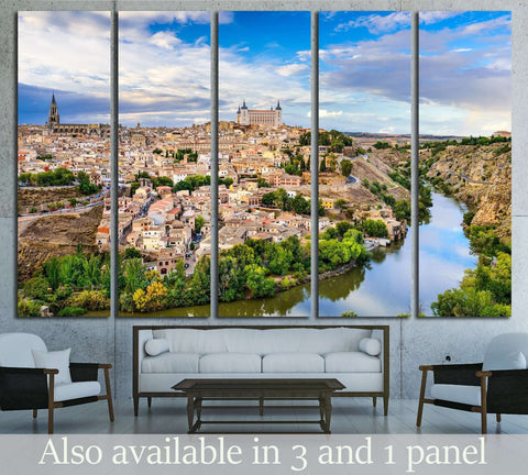 Toledo, Spain old town city skyline №2061 Ready to Hang Canvas Print