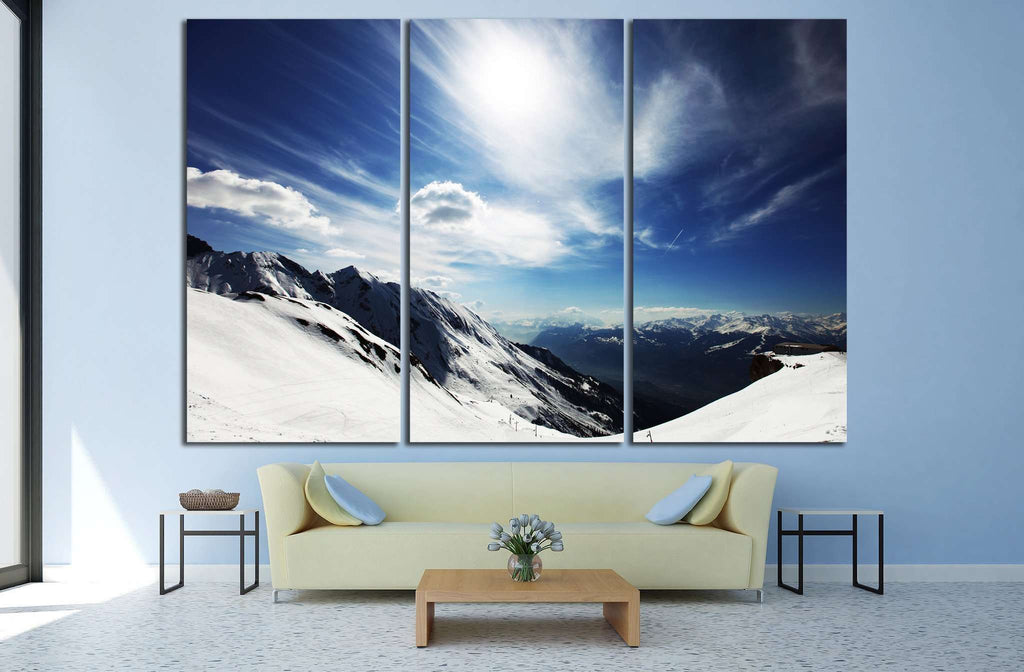 top of mountains №752 Ready to Hang Canvas Print