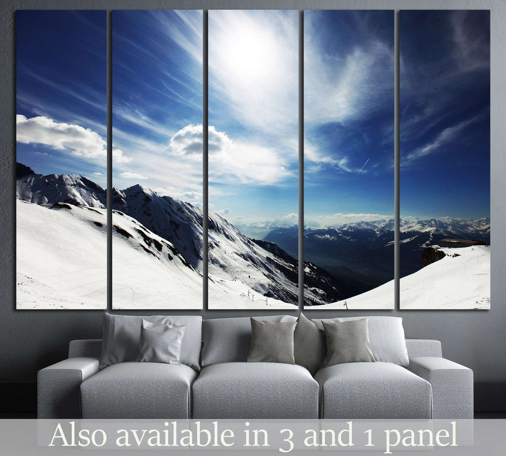top of mountains №752 Canvas Print