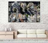 Top View of Skyscrapers in a Big City №2198 Ready to Hang Canvas Print