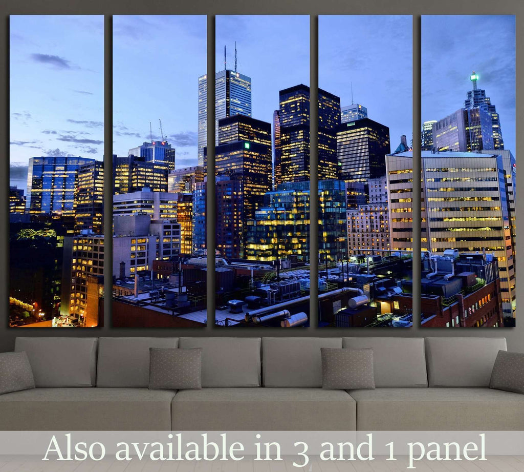 Toronto Downtown №2091 Ready to Hang Canvas Print