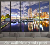 Toronto skyline at night in Ontario, Canada №2056 Ready to Hang Canvas Print