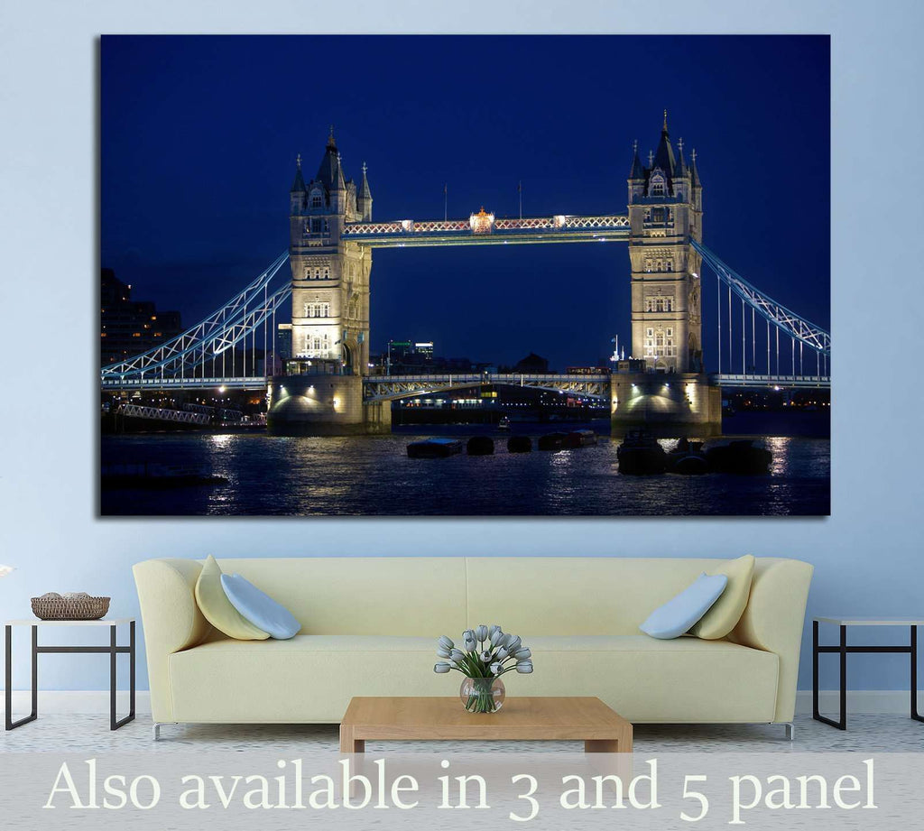 Tower bridge in London №781 Ready to Hang Canvas Print