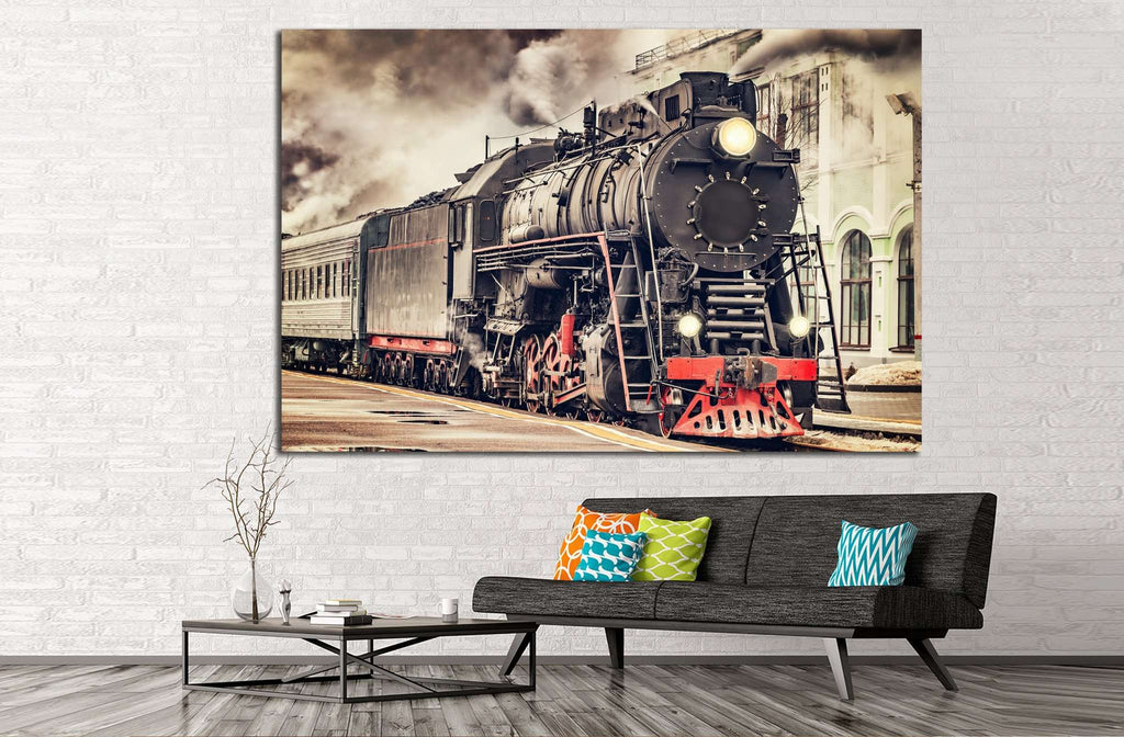 Train №231 Ready to Hang Canvas Print