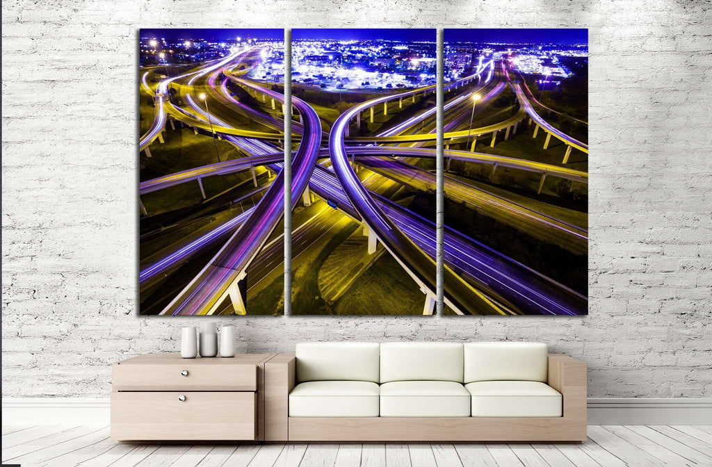 transportation highway №1063 Ready to Hang Canvas Print
