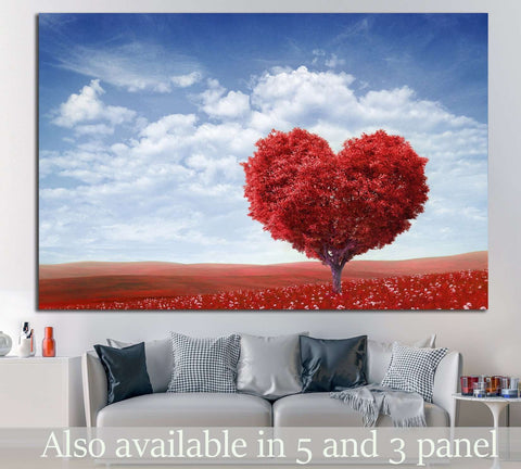 Tree in the shape of heart №730 Ready to Hang Canvas Print