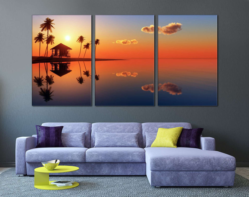 Tropical Beach №754 Ready to Hang Canvas Print