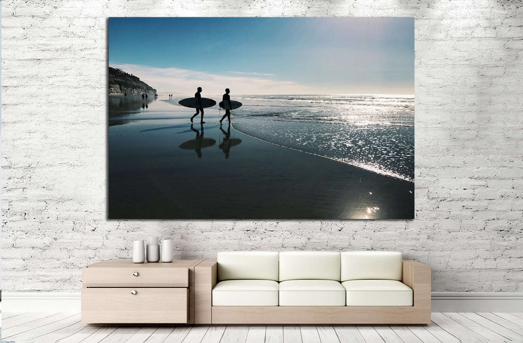Two surfers, San Diego №1015 Ready to Hang Canvas Print