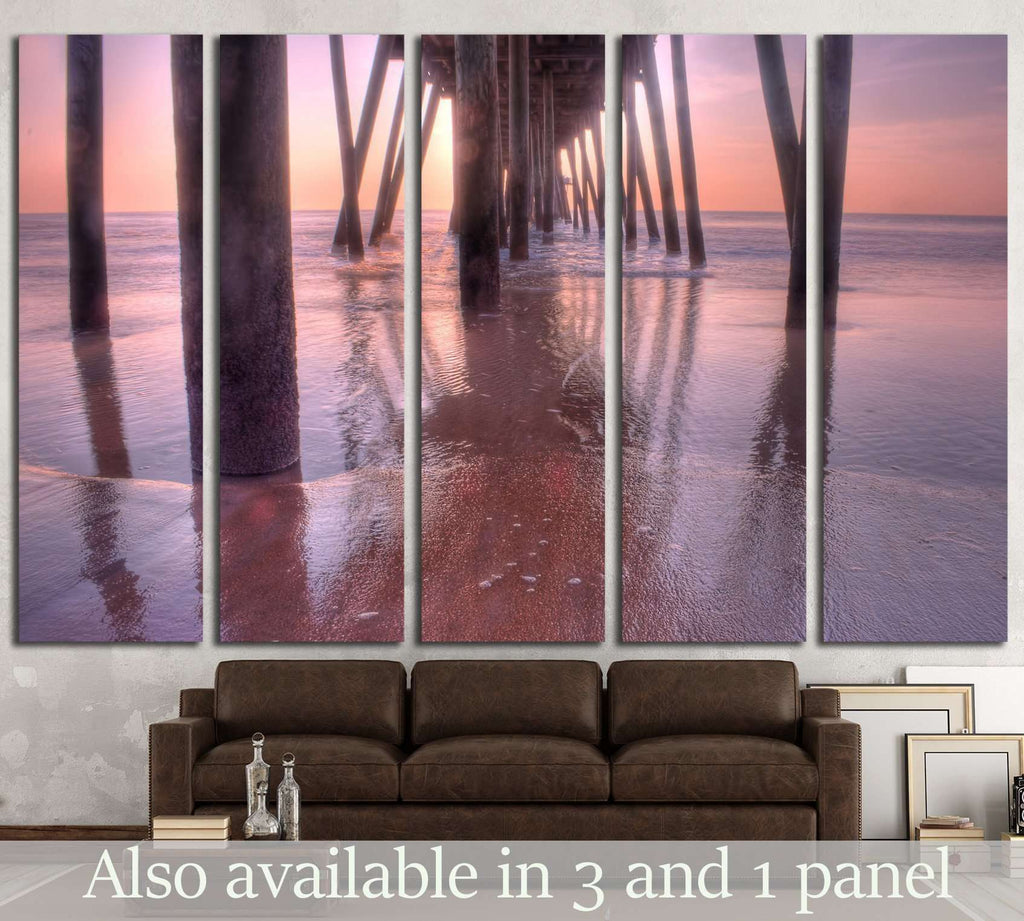 under the pier №1815 Ready to Hang Canvas Print