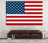 United States flag №693 Ready to Hang Canvas Print