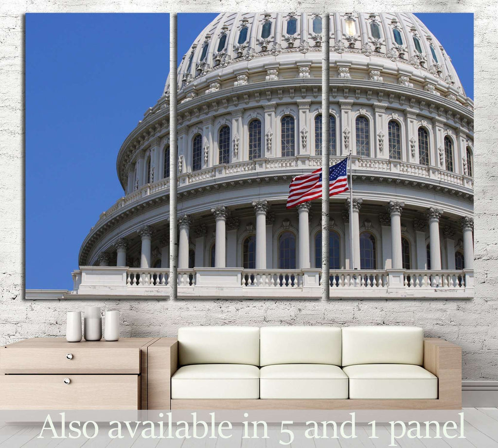 US Capitol Building in Washington DC №1284 Ready to Hang Canvas Print