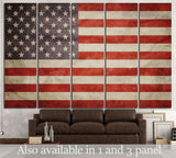 USA Flag №672 Ready to Hang Canvas Print