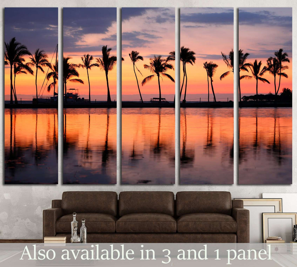 vacation getaway colorful concept photo from sea ocean water at Big Island, Hawaii, USA №2694 Ready to Hang Canvas Print