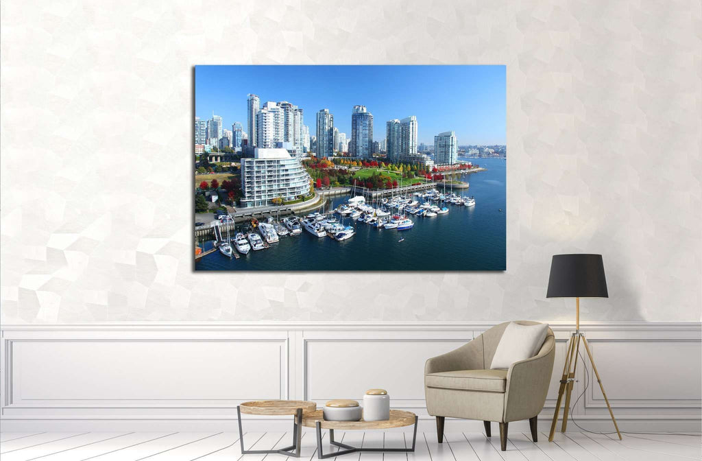 Vancouver in British Columbia, Canada №2041 Ready to Hang Canvas Print