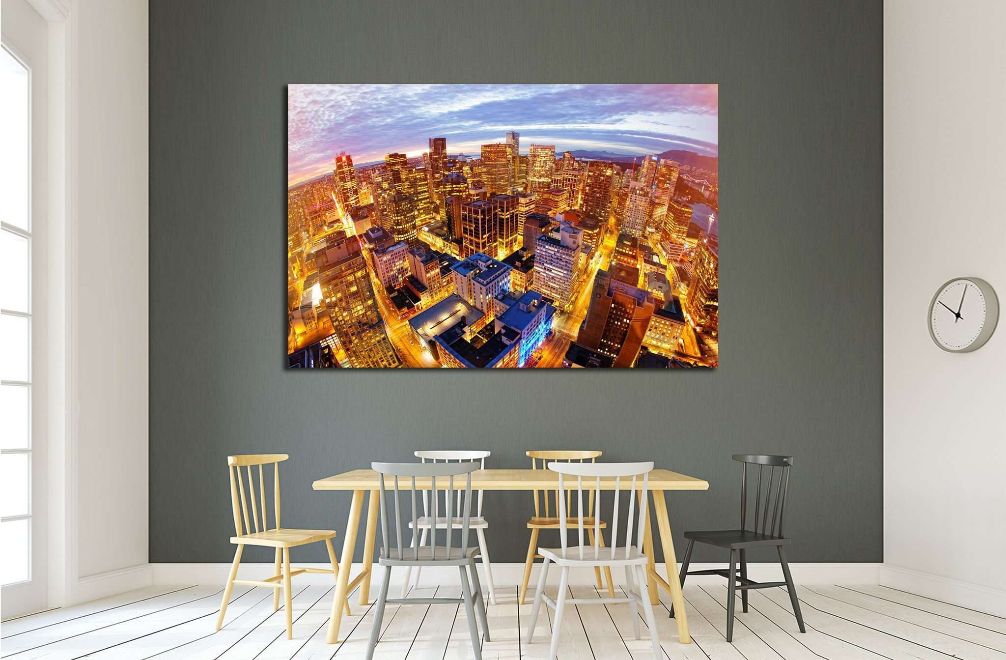 View from city tower in Vancouver №2043 Ready to Hang Canvas Print