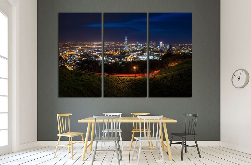 View of Auckland City from Mt Eden Summit №2297 Ready to Hang Canvas Print